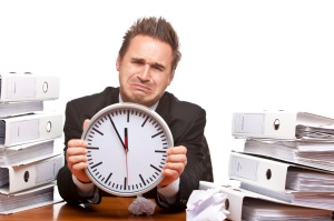 Client annoyed about time